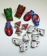 Vintage Tin Tinplate Toy Set Of 17 Different Clickers Noisemakers 1960's