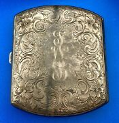 Antique Watrous Manufacturing Co Sterling Silver Cigarette Box Case Card Holder