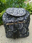Dooney And Bourke Disney Parks Nylon 👻 Haunted Mansion Portraits Backpack 😱