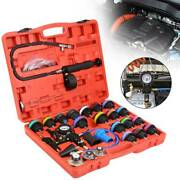 28pcs Master Cooling Radiator Pressure Tester With Vacuum Purge And Refill Kit Set