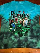 Awesome Vintage 1998 Awesome Beatles Garden 2-sided Tie-dye Print, Size Large