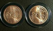Original 2013 Sbss 1 Oz. .999 Copper Debt And Death And Rare 2014 Proof-like Obverse