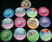 Disneyland Disney Pinback Buttons Pins Cars 1st Visit Happily Ever After Goofy