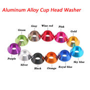 Aluminum Alloy Cup Head Washer M2 M2.5 M3 M4 Multiple Color Options Antistatic