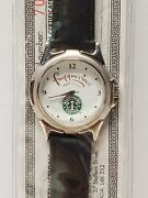 Star Line-starbucks Frappuccino Watch-black Leather Strap-water Resistant