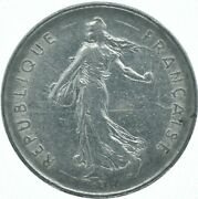1971 5 Francs Republic Of France / Republique Francaise/ The Seed Sawer Wt16321