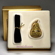 Estee Lauder Beautiful Pear Compact For Solid Perfume 1996 Collection Vintage