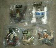 1999 Taco Bell- Kfc-pizza Hutand039 Lot Of 5 Star Wars Episode 1 Cup Toppers Mib