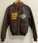 Used the Real Mccoy's A-2 Premium Leather A2 A-2 Custom Print Flight Jacket