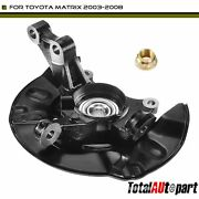 Steering Knuckle Wheel Hub And Bearing Assembly Front Left For Toyota Matrix 03-08
