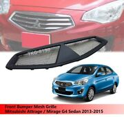 Front Mesh Grille Grill For Mitsubishi Attrage / Mirage G4 Sedan 2013 - 2015