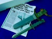Rare Us Vietnam Udt Non-magnetic Imperial Military Diving Diverand039s Fighting Knife