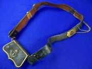 Antique German Germany 19 Century Hussarand039s Cross Belt With Pouch