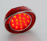 1968-1973 Corvette Led Taillight Assembly Red Lens With Stainless Trim 608804