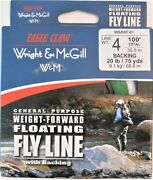 Eagle Claw Wright And Mcgill Weight Forward Floating Fishing Fly Line 4 Weight