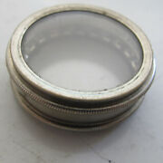 Elgin Pocket Watch Movement Round Container Display Holder - Double Glass 1 1/2
