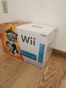 Used Nintendo Wii Limited Edition Blue Console System Skylanders Giants