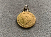 Antique King George Iii 1820 Full Sovereign Coin Pendant. Beautiful 22ct Gold