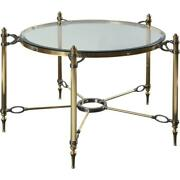 Maitland Smith 8273-33 - Brass Cocktail Table With Inset Glass