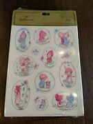 Vintage Stickers Seals Hallmark New Old Stock Sealed Betsey Clark 4 Sheets