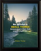 Mother Teresa Be Faithful In Poster Print Picture Or Framed Wall Art