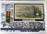 2002 Miniature South African War Medal And St Vincent And Grenadines 5 Stamp Cover