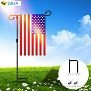 Starroad-tim Garden Flag Stand Pole Holder Metal Powder-coated Weather-proof Pai