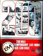 Usac L And M 200 Mile Late Model Stock Car Race 1973 Wisconsin Program + Scca Pin