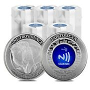 Lot Of 100 - 1 Oz Mintid Buffalo Silver Round .999+ Fine Nfc Scan Authentication