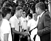 New Photo A Young Bill Clinton Meets President John F. Kennedy, 1963 - 6 Sizes
