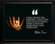 Mother Teresa I Have Found Poster Print Picture Or Framed Wall Art
