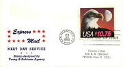 2122 10.75 Express Mail Clarence Reid Cachet Rubber Stamped Address [4724]