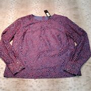 Banana Republic Red And Blue Lace Detailed Blouse Size M