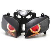 Amber Angel Red Demon Eyes Hid Projector Headlight For Honda Cbr1000 And0392004-and0392007