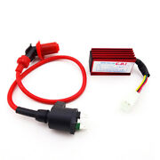 Red Ignition Coil 5 Pin Ac Cdi For Nq50 Nb50 Elite Spree Sa50 Ch80 Dio Scooter