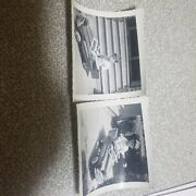 Vintage Set Of Two Pictures Of A Boy In A Peddle Car
