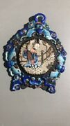 Very Rare Chinese Qing Dynasty Antique Enamel Crafted Pocket Watch Stand