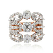 Certified Natural 2.70 Ct. Diamond Cocktail Ring 18k White Gold Fine Jewelry