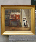 Knud Sinding 1875 Interior From The Artists Private Residence. 1910. Very Rare