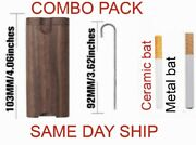Wood Dugout 4 With 3 Ceramic One Hitter Clean Out + 3 Metal One Hitter