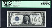 Key Note 1928c 1 Fr-1603 ♚♚silver Certificate♚♚ Pcgs Choice New 63 Ppq