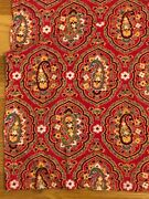 Antique Vintage Cotton French Bandana Indienne Fabric Turkey Red 43 X 31