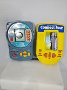 Vintage Electronic Hand-held Games Battleship And Connect Four