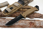 Gerber Lmf Ii Infantry Tactical Knife-fixed Blade Brown With Sheath Brand New