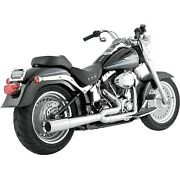 Vance And Hines - 17547 - Pro Pipe Exhaust System, Chrome Harley Softail Springer