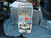 Vintage Atlas Master 1/5 Cent Hershey-ets Candy/gumball Machine With Key Works