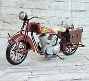 1956 Indian Metal Motorcycle Model Promotional Gift Hot Cast Sculpture Home Deco