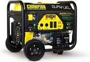 Champion 9,375-w Portable Hybrid Dual Fuel Powered Generator With Electric Start