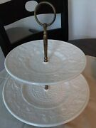 Cupcake/cake Porcelain Stand Two Tier Made In West Germany Grapesandvines