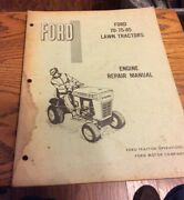 Ford Models 70 75 85 Lawn Tractor Engine Repair Manual - Used